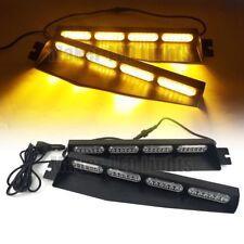 """34"""" 48W LED Emergency Strobe Warning Visor Dash Split Deck Flash Light Bar Amber"""