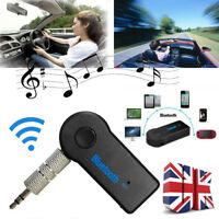 Bluetooth Wireless 3.5mm AUX Audio Car Receiver Adapter w/ Mic Home Stereo Music