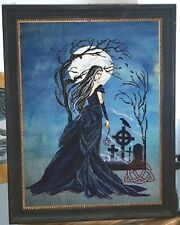"XSTITCH MATRLS  ""INTO THE DARKNESS THE QUEEN OF WITCHES"" RL46 by Passione Ricamo"