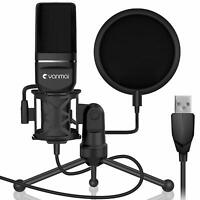 Condenser Microphone Double Layer Pop Studio Recording Streaming Tripod Stand