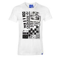 Adidas Originals Mashup T-Shirt Retro Print White Tee Size Medium Mens Size