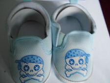 Boys Pirate Skull & Cross Bones Slip on Infant Shoes 0-3mths