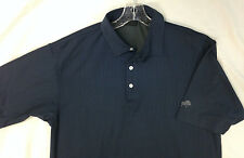 "Dunning Golf Shirt Short Sleeve Polo ""Rolling Green"" Navy Pin Stripe Men'sSize L"