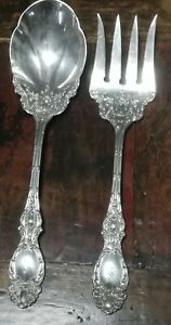 Royal Rose by Wallace Sterling Silver Spinach Fork Custom Made 7 38