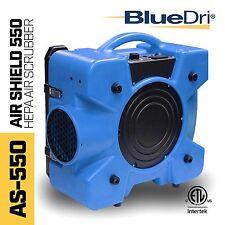 BlueDri Air Shield 550 AS-550 Hepa Negative Air Machine Scrubber Filtration Blue
