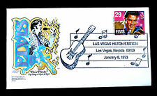 US Stamp Sc#  2721 FDC Elvis Presley HF Cachet Las Vegas Hilton Station 1-8-1993