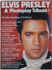 Original 1977 King of Rock and Roll ELVIS PRESLEY Photoplay Tribute Biography