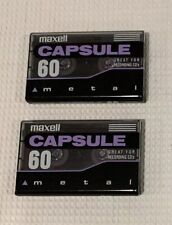New listing Lot Of 2 Maxell Metal Capsule 60 Min. , Type Iv Blank Tapes.
