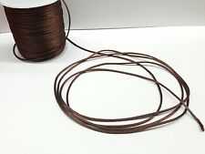 10 Yards 2 mm Satin Rattail Cord-string in BROWN- Cordon Cola de Rata-CAFE