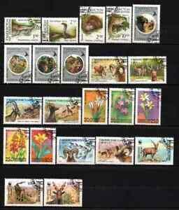 UZBEKISTAN - LOT ANIMALS / FLOWERS CTO MNH