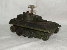Panzer mit Schlüssel zum aufziehen Französich Millitär Spielzeug Joustra France