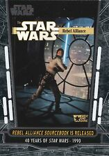2017 Star Wars 40th Anniversary Card #74 Rebel Alliance Sourcebook is Released