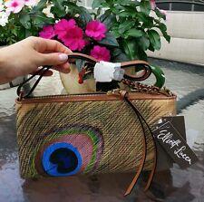 Elliott Lucca genuine leather purse, hand painted