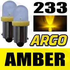 2 x 233 LED Ámbar Trasero Bombillas Ba9s TW4 PIAGGIO-VESPA Ciao 50V / SC (c6v1t)