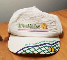 Vintage Rare Wimbledon The Championships White Nylon Zip Adjustable Hat 80s