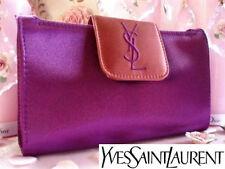 100% Autentico YSL COUTURE Viola Exclusive & Bronze Clutch evening BAG & specchio