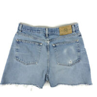 Eddie Bauer Cut Off Jean Shorts Relaxed Fit 33W Denim Blue Med Wash Vintage