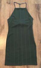 * Topshop Green Khaki Chain Strap Dress - Size 10 *