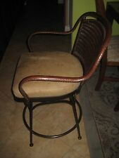Vintage Mathis Brothers Furniture Bar Stool Arm Chair (Frame Covered Leather)