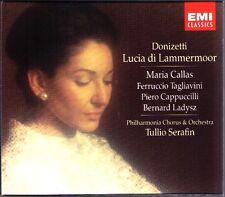 DONIZETTI Lucia di Lammermoor MARIA CALLAS TAGLIAVINI CAPPUCCILLI SERAFIN 2CD