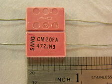 15 Vintage Sangamo 4700pF 100V5% Molded Mica Capacitors