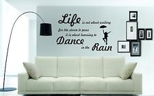 DANCING IN THE RAIN Wall Art Sticker, Decal, Mural with dancing silhouette.