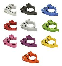 BICYCLE SEAT POST CLAMP 28.6MM W/ QUICK RELEASE CRUISER LOWRIDER BMX MTB CYCLING