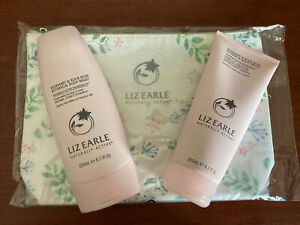 Toiletry Bag Liz Earle Rosemary & Rock Rose Wash Body Cream Full Size Pink NEW