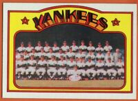 1972 Topps #237 Yankees Team EX-EXMINT MARKED Thurman Munson FREE SHIPPING