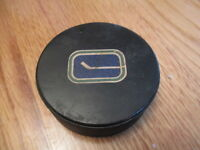 Vintage 70s Official NHL Viceroy VANCOUVER CANUCKS GAME USED Puck