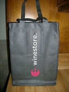 Wine Store Six Bottle Wine Caddy Carrier  w/ Handle / Cloth Style