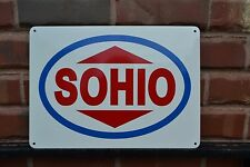 SOHIO Gas Station Pump SIGN Standard Oil Ohio Boron Ad logo Shop Advertising 15