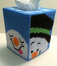 Whimsical Snowman Tissue Box Cover handmade Boutique size