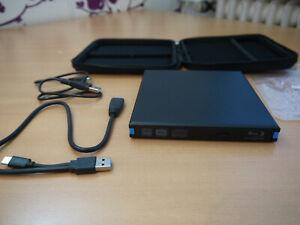 TTLIFE Externes Blu-Ray Laufwerk  USB 3.0 und Typ C 3D-Blu-Ray-Discs 4K 5Gbps
