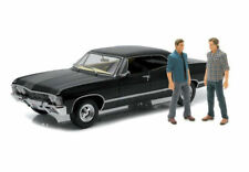 Greenlight Artisan Collection Supernatural Limited Edition Black Car 1967 Chevrolet Impala Sport Sedan with Sam & Dean Figures 1:18 Scale 14+