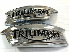 Triumph T100 Classic Bonneville Thruxton 900 Chrome GAS Tank Plastic Badge Decal