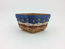 Longaberger 2010 American Celebrations Small Wave Basket w Protector