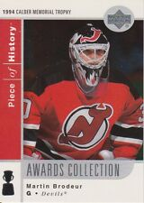 2002/03 UD Piece of History Awards Collection Martin Brodeur #AC18