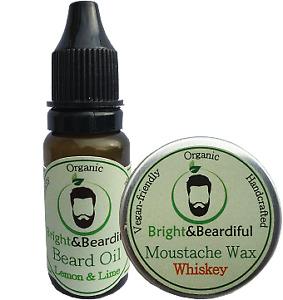 Cedarwood Fragrance Moustache Wax, Beard Oil Grooming Kit 15ml