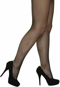 BLACK FISHNET TIGHTS SMALL HOLE ONE SIZE ACCESSORY QUALITY UK SELLER NEW