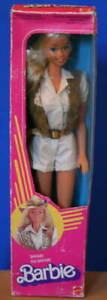 Rare 1983 SAFARI BARBIE doll NRFB MIB Lovely Superstar face Foreign Vintage
