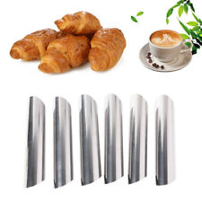 6PCS Stainless Steel Cannoli Cream Tubes Shells Horn Mould Pastry Baking Mold