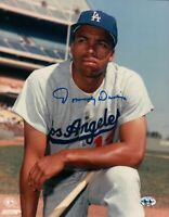 Tommy Davis Signed 8X10 Photo Autograph Los Angeles Dodgers Pose Knee Auto COA