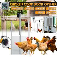 Chicken Coop Automatic Door Auto Coop Door Opener Poultry Cage Closer Timer K