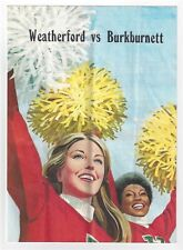 VINTAGE 1975 TEXAS HIGH SCHOOL FOOTBALL PROGRAM WEATHERFORD vs BURKBURNETT ~ TX