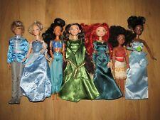 Disney Prince & Princess Doll's Bundle / Job Lot  Merida, Elinor, Mulan & More