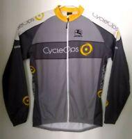 Mens Giordana Full Zip Long Sleeve Cycling Jacket Made in Italy SIze L EUC