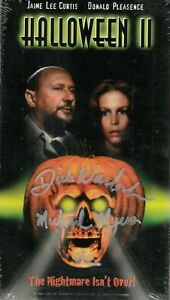 HALLOWEEN II VHS SIGNED!(On Shrinkwrap) DICK WARLOCK Sealed! 80's Horror RARE!