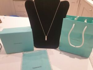TIFFANY & CO SOLID STERLING SILVER PALOMA PICASSO XOX PENDANT NECKLACE