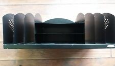 "Safco Letter-Size Desk Organizer 22-1/4""x11-1/4""x8-1/8"" Black"